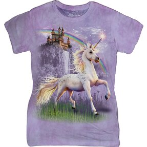 Unicorn Castle Fantasy T Shirt