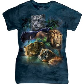 Big Jungle Cats Zoo T Shirt